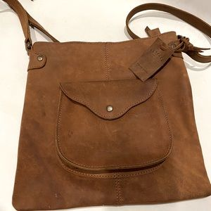 Fat face Crossbody leather bag
